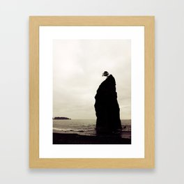 Rialto Beach Rock Framed Art Print