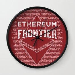 Ethereum Frontier (dark red) Wall Clock