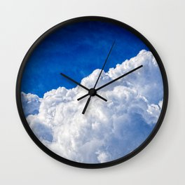 White Cumulus Clouds In The Blue Sky Wall Clock
