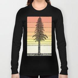 Coastal Redwood Sunset Sketch Long Sleeve T-shirt
