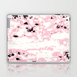 Lava Pattern Abstract Rosé and White Laptop & iPad Skin