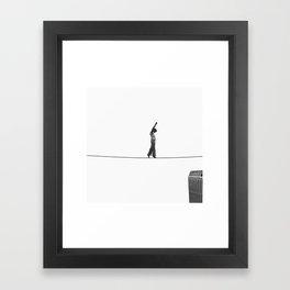 Philippe Petit / Man on Wire. Framed Art Print