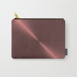 Metalic Pink Rose Gold Machined Metal Carry-All Pouch