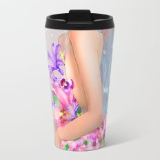 Lily Pink Travel Mug