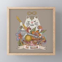 The Cat Magician Framed Mini Art Print