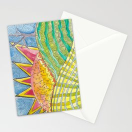 Childhood Series: Sun and Hills Landscape Stationery Cards