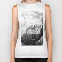coca cola Biker Tanks featuring Coca Cola  by Chris' Landscape Images & Designs