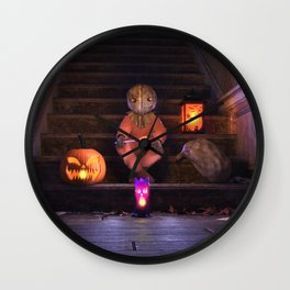 Halloween Rules Enforcer Wall Clock