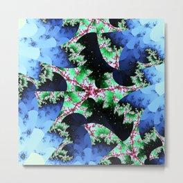 Julia's Nebula - abstract fractal art Metal Print