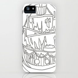 Ghost Ship Outline iPhone Case