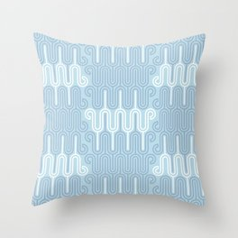 Serenity blue neutral retreat pastel geometric pattern Throw Pillow