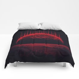 Lost Home! Colosal Future Sci-Fi Deep Space Scene in diabolic Red Comforters