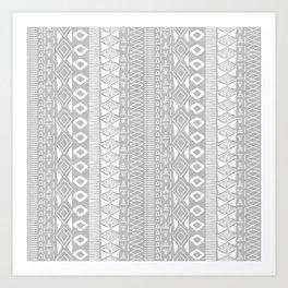 Adobe in Grey Art Print