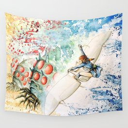"""The flying princess"" Wall Tapestry"