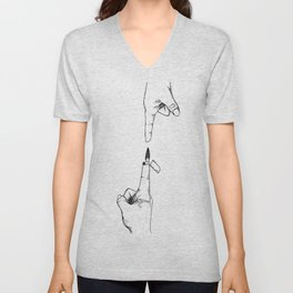 Hot to the Touch Unisex V-Neck