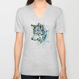 Gray Wolf - Gray Skies Unisex V-Neck
