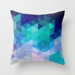Geometric and electric Throw Pillow