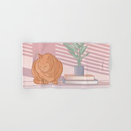 Cat Nap Hand & Bath Towel