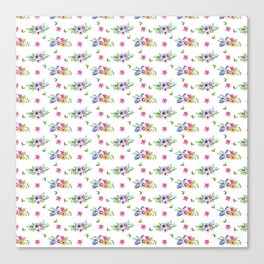 Tiny Flowers Ditsy Floral Canvas Print