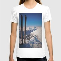 ski T-shirts featuring ski by ViiGlory