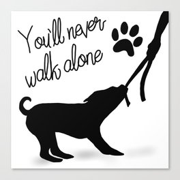 Dogwalker Canvas Print