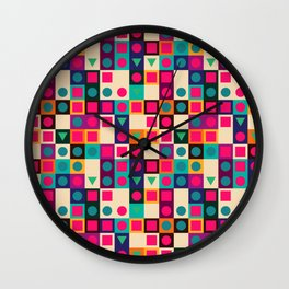 Geometric pattern with shapes Wall Clock