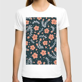 dark sakura blossoms T-shirt