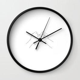 little finger promise line illustration Wall Clock