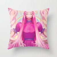 artgerm Throw Pillows featuring PB by Artgerm™