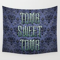 tomb raider Wall Tapestries featuring Haunted Mansion - Tomb Sweet Tomb by Brianna
