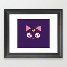 Luna  pilow Framed Art Print