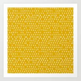 Yellow Modernist Art Print