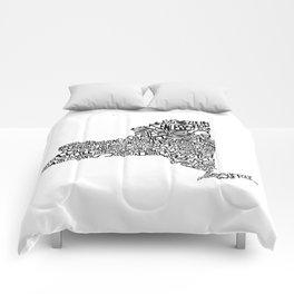 Typographic New York Comforters
