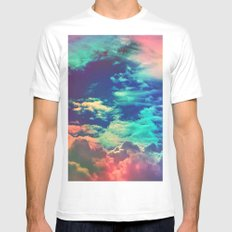 Happy Up Here MEDIUM White Mens Fitted Tee