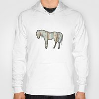 wooden Hoodies featuring Wooden horse by Vin Zzep