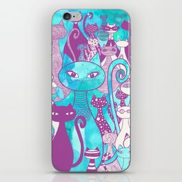 Cat Family II iPhone Skin