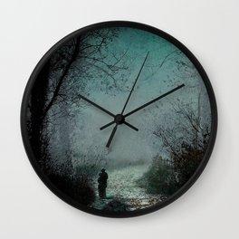 John Atkinson Grimshaw - Lovers on a moonlit Lane - Victorian Retro Vintage Painting Wall Clock