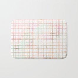 Plaid Watercolored Pattern Bath Mat