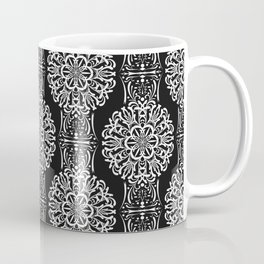Black and white ornament .damask , damask ornament Coffee Mug