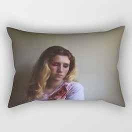 Dont Speak Bullets, Without Considering The Exit Wound. Rectangular Pillow