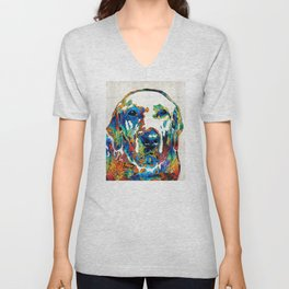 Labrador Retriever Art - Play With Me - By Sharon Cummings Unisex V-Neck