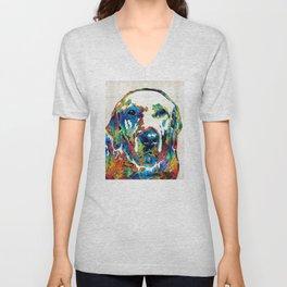 Labrador Retriever Art - Play With Me - By Sharon Cummings Unisex V-Neck
