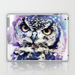 owl watercolor Laptop & iPad Skin