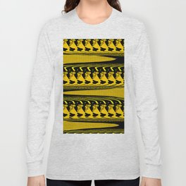 BRIGHT YELLOW AND BLACK PATTERN 3D EFFECT FOR FUNKY DECOR Long Sleeve T-shirt