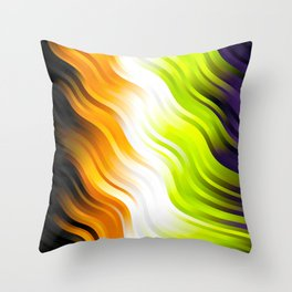 stripes wave pattern 7v2 std Throw Pillow