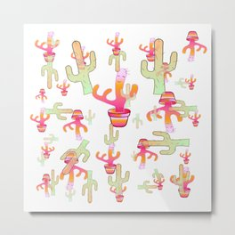 Cactus Family Day Metal Print
