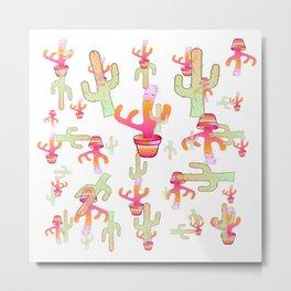 Cactus Family Day Metal Print
