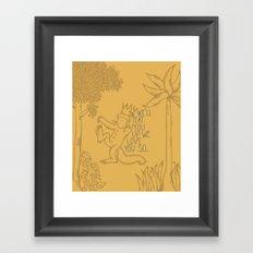 King Max Framed Art Print