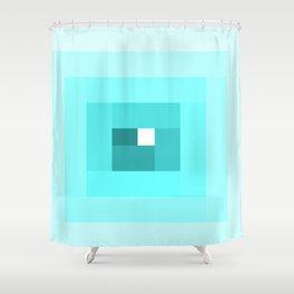 Blue Spiral Shower Curtain