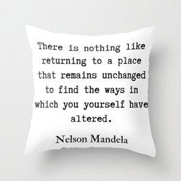 8    Nelson Mandela  Quotes   190818 Throw Pillow